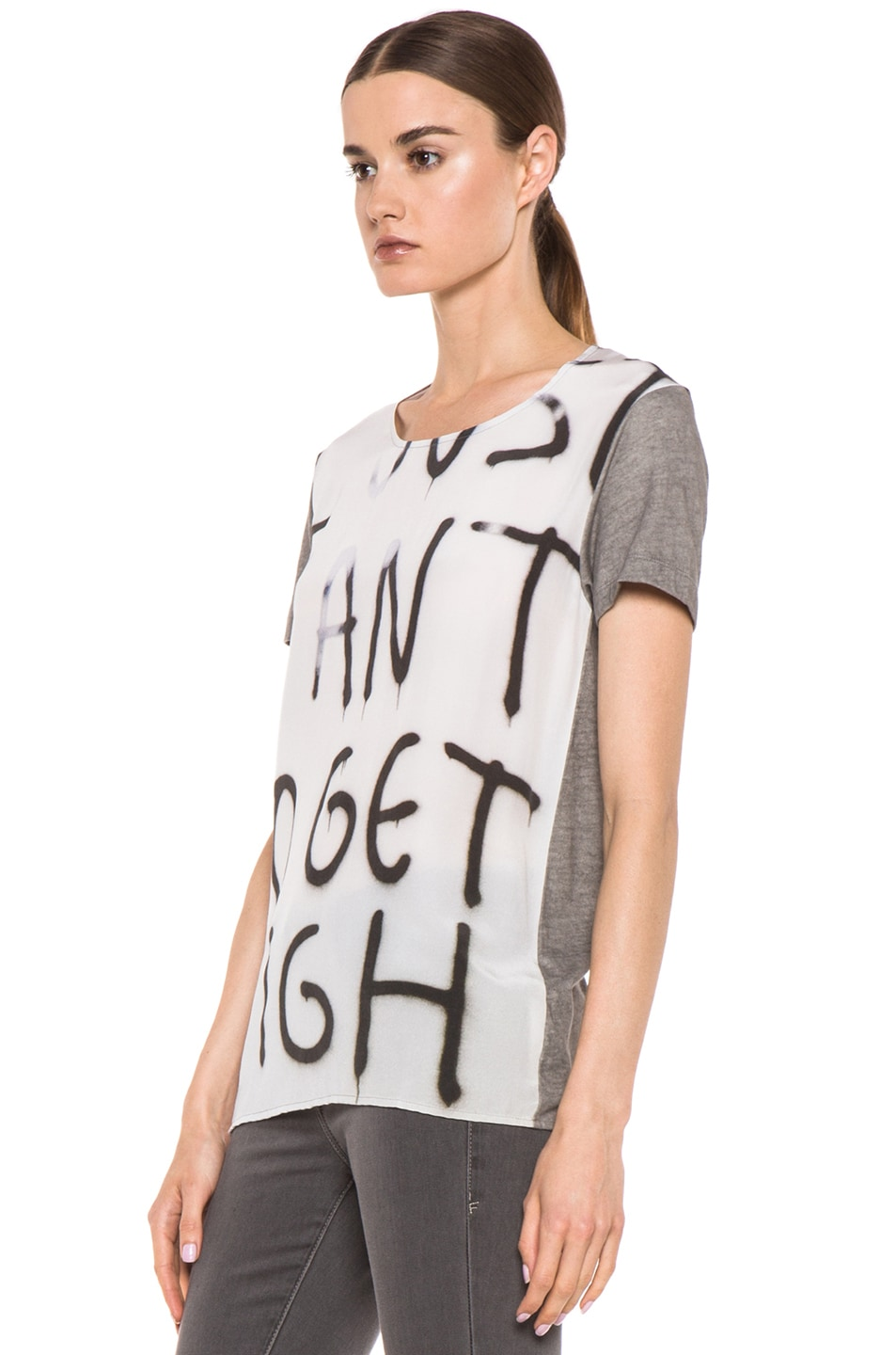 Image 2 of EACH x OTHER By Thomas Lelu Unique 'Want to Get High' Tee in Grey