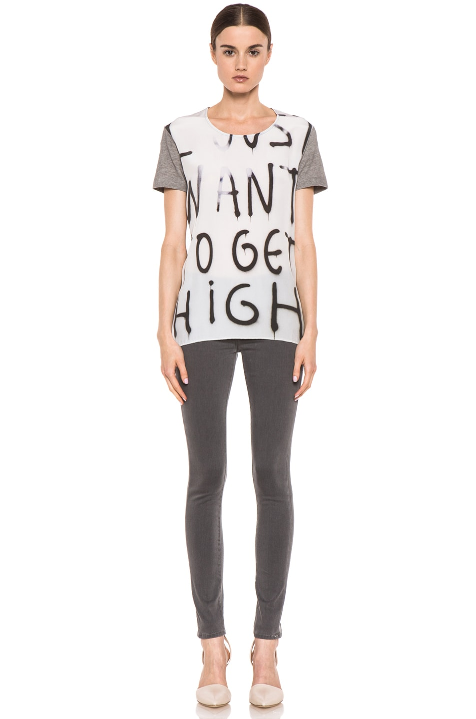 Image 5 of EACH x OTHER By Thomas Lelu Unique 'Want to Get High' Tee in Grey