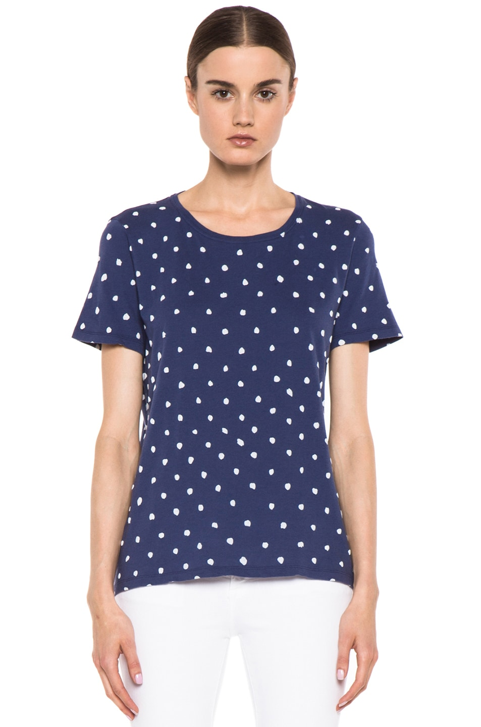Image 1 of EACH x OTHER By Naco Paris Printed Dotted Tee in Blue