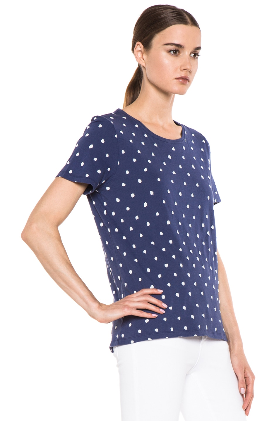 Image 3 of EACH x OTHER By Naco Paris Printed Dotted Tee in Blue