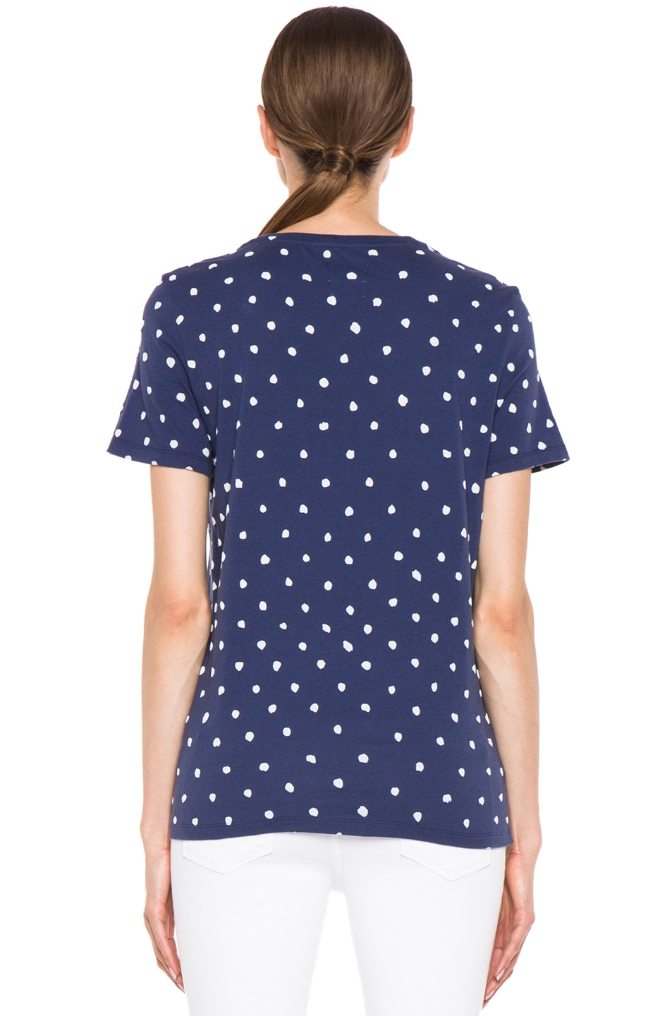 Image 4 of EACH x OTHER By Naco Paris Printed Dotted Tee in Blue