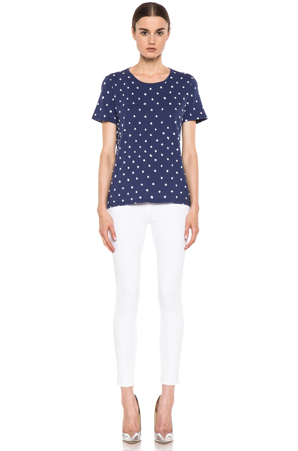 Image 5 of EACH x OTHER By Naco Paris Printed Dotted Tee in Blue