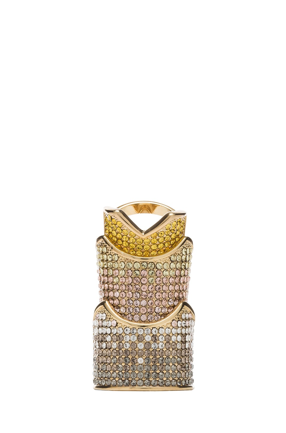 Image 1 of Eddie Borgo Pave Hinge Plated Ring in Gold