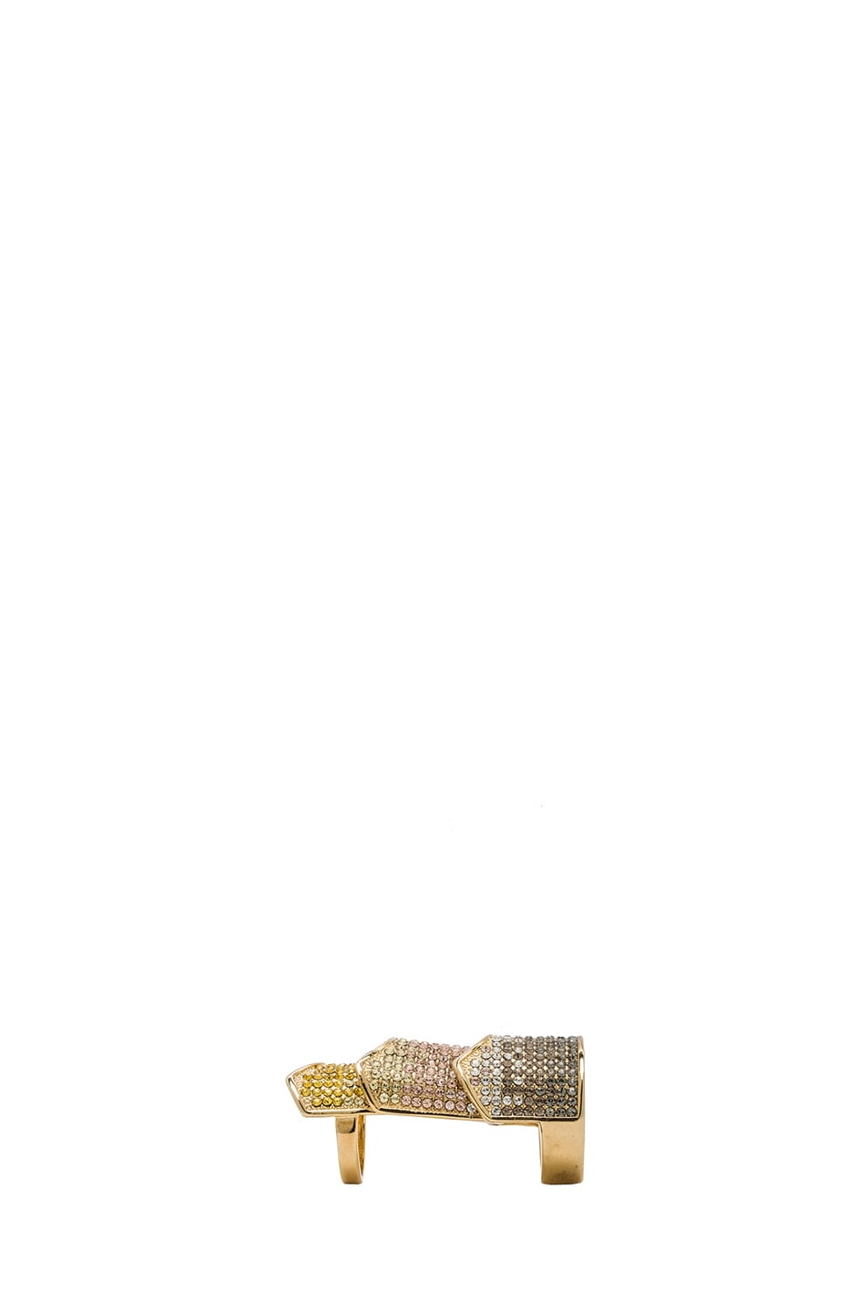 Image 2 of Eddie Borgo Pave Hinge Plated Ring in Gold