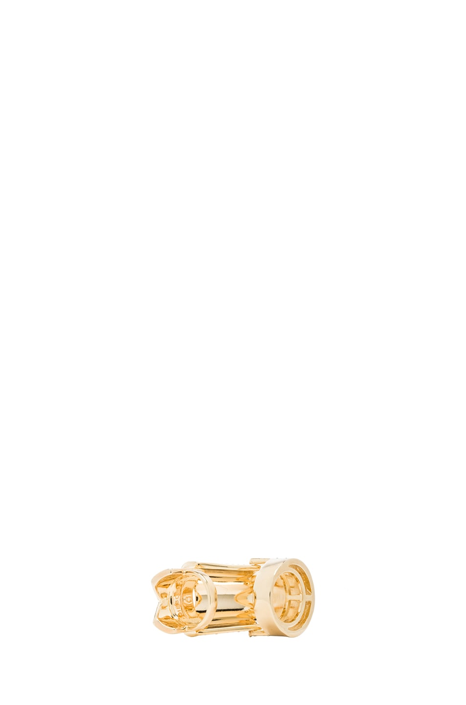Image 5 of Eddie Borgo Pave Hinge Plated Ring in Gold