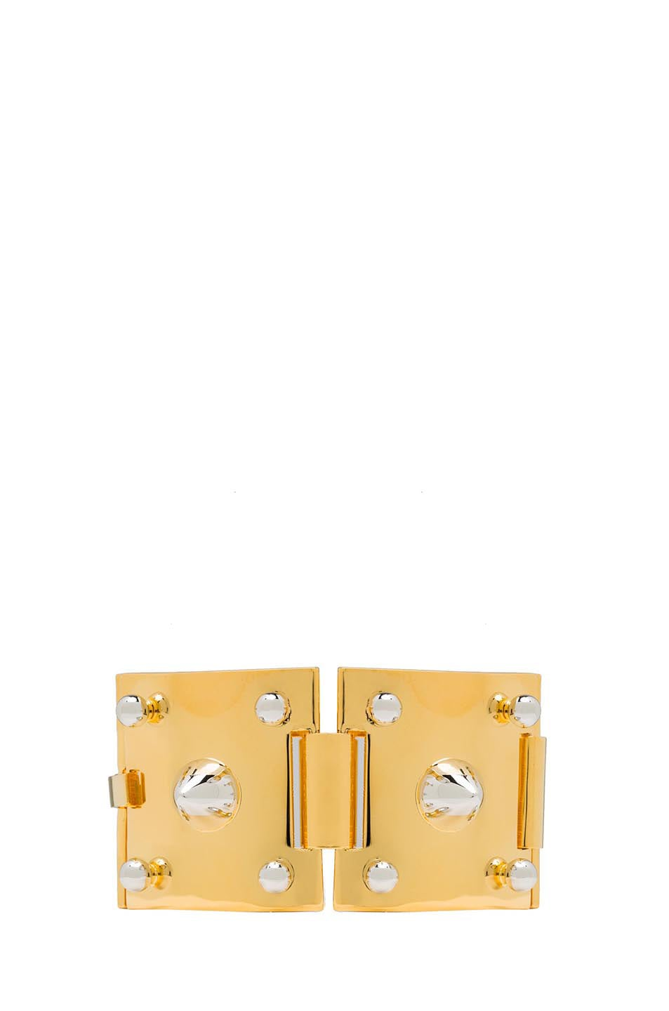 Image 2 of Eddie Borgo Two Tone Studded Plated Brass Cuff in Gold
