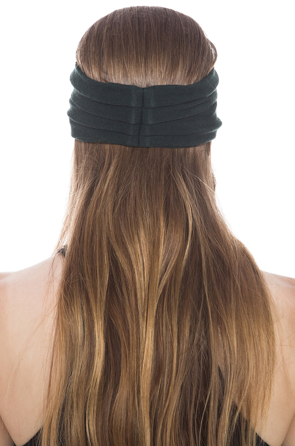 Image 3 of Eugenia Kim Chiara Wool Jersey Turban Headband in Hunter Green