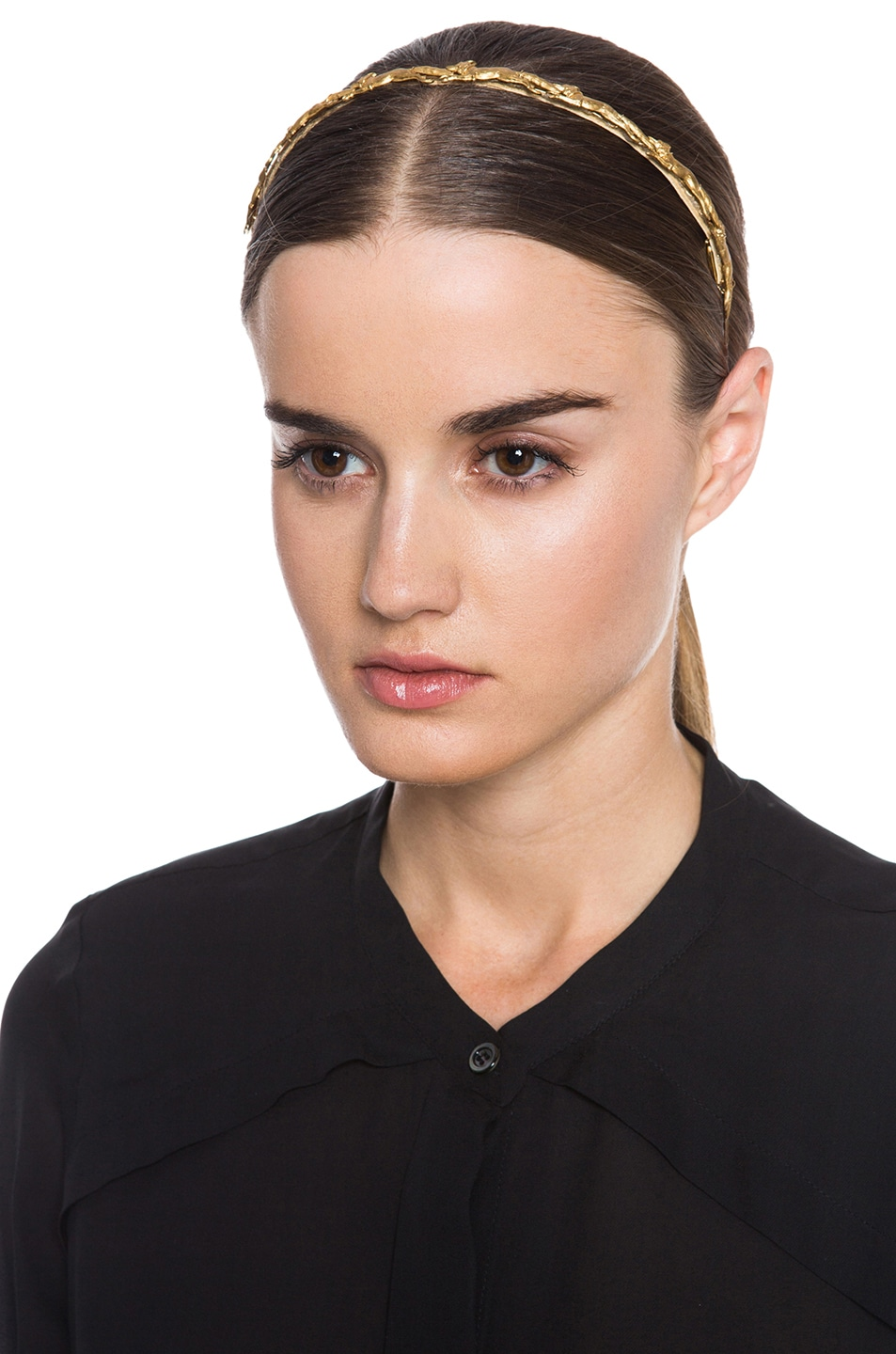 Image 1 of Eugenia Kim Inga Headband in Gold