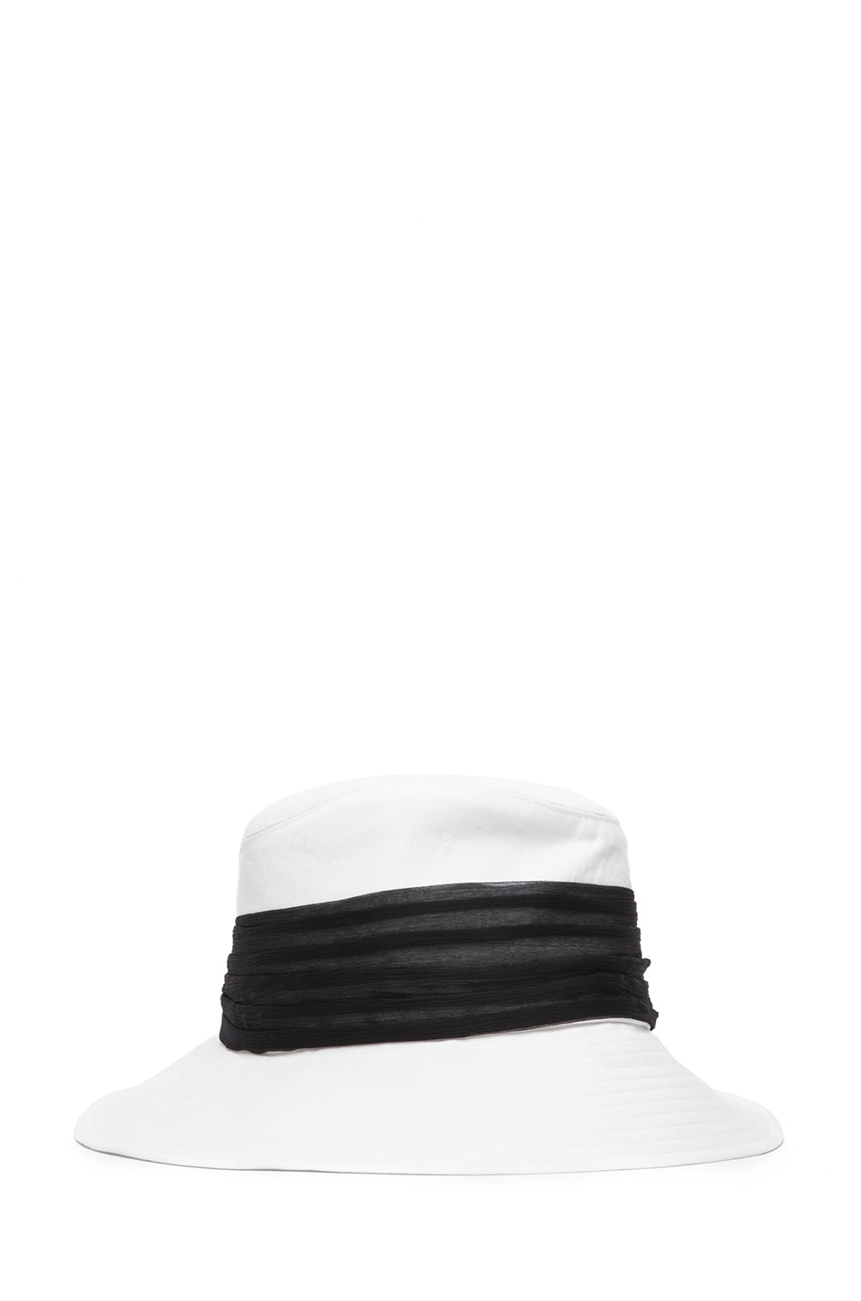 Image 3 of Eugenia Kim Jordana Linen Wide Brim Fedora in Ivory & Black