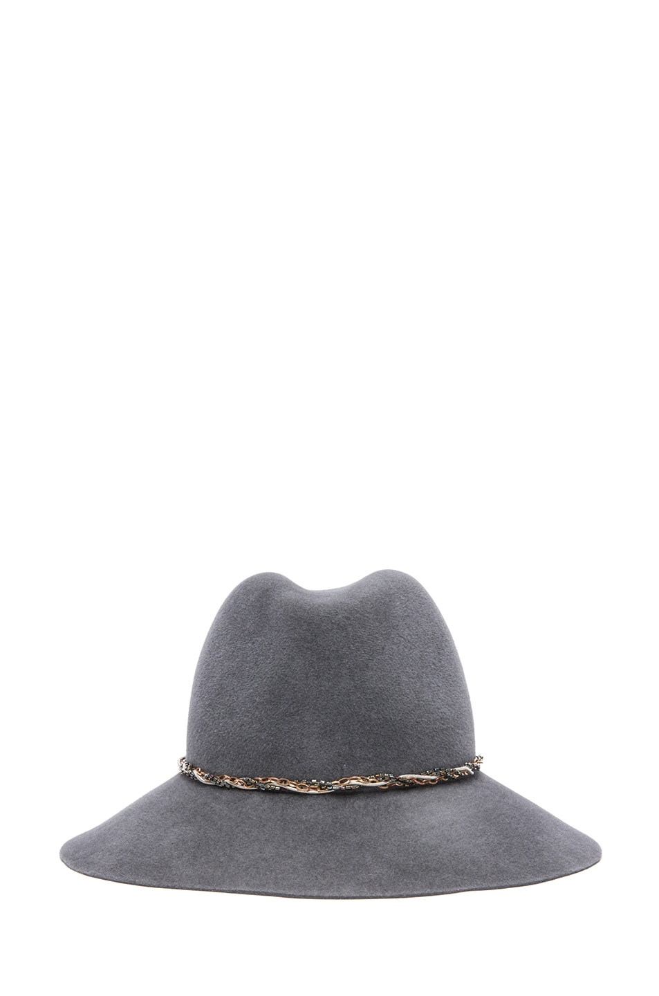 Image 1 of Eugenia Kim Farrah Floppy Hat in Charcoal