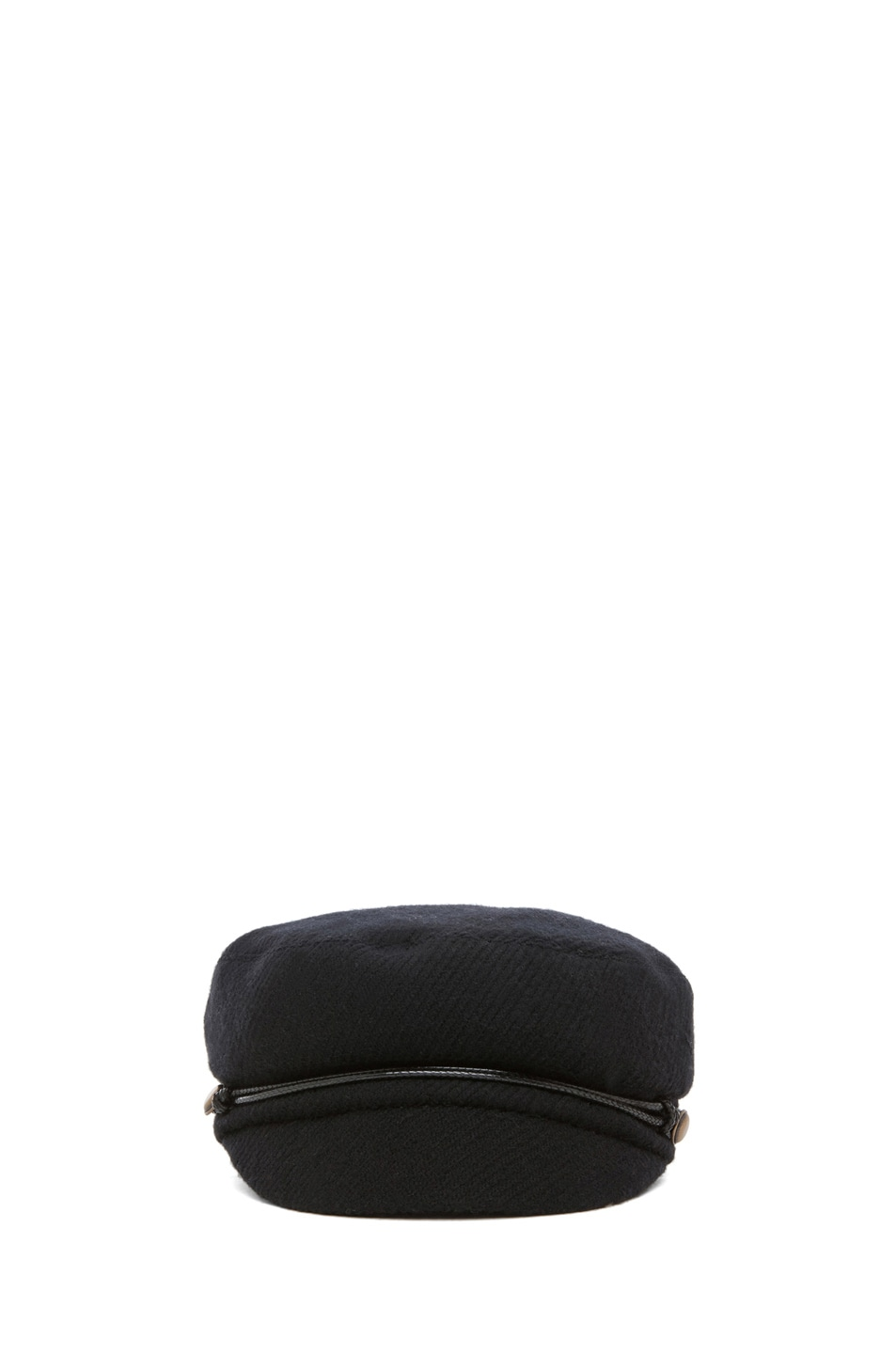 Image 1 of Eugenia Kim Elyse Boucle Cashmere Cap in Black
