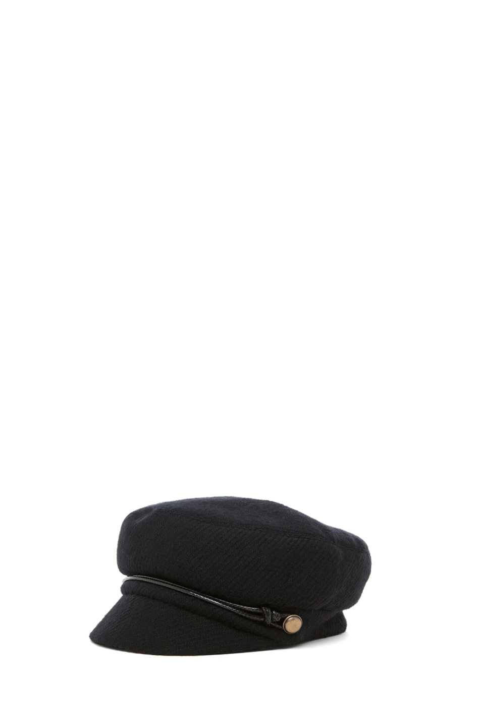 Image 2 of Eugenia Kim Elyse Boucle Cashmere Cap in Black