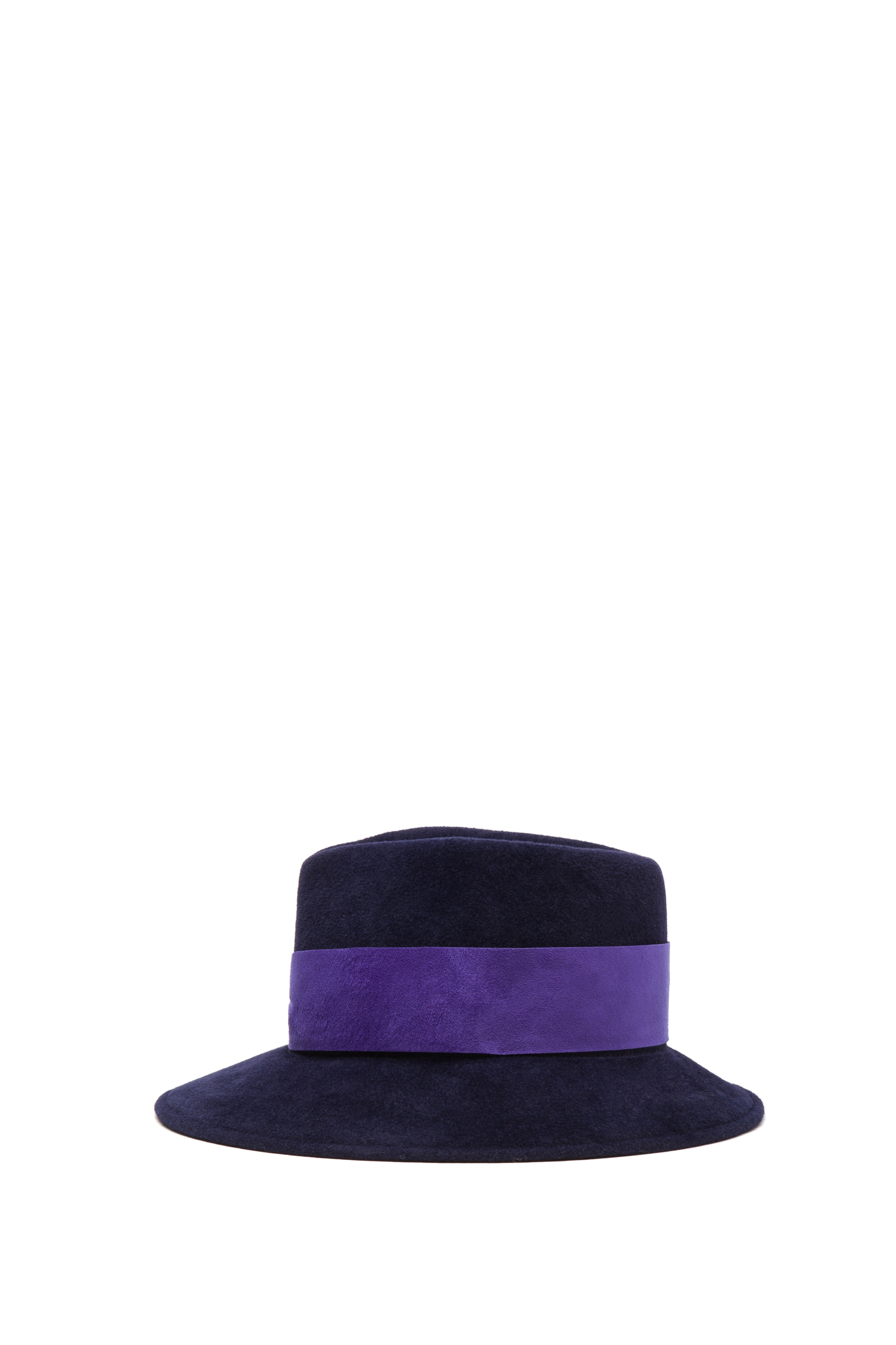 Image 3 of Eugenia Kim Lauren Velour Felt Large Brim Fedora in Navy