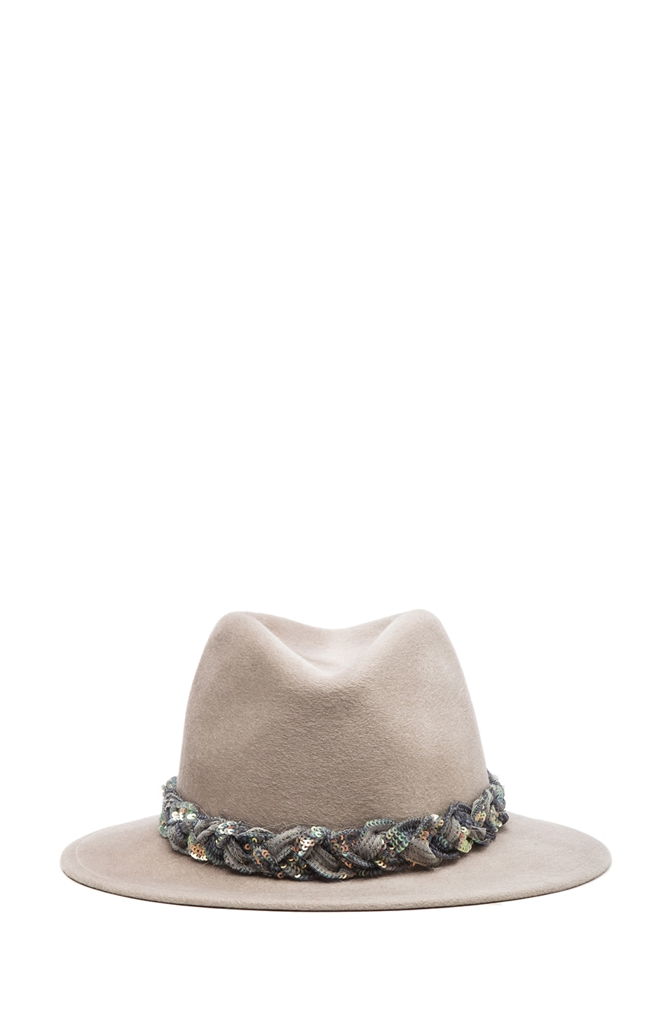Image 1 of Eugenia Kim Harper Brushed Wool Felt Fedora in Oyster