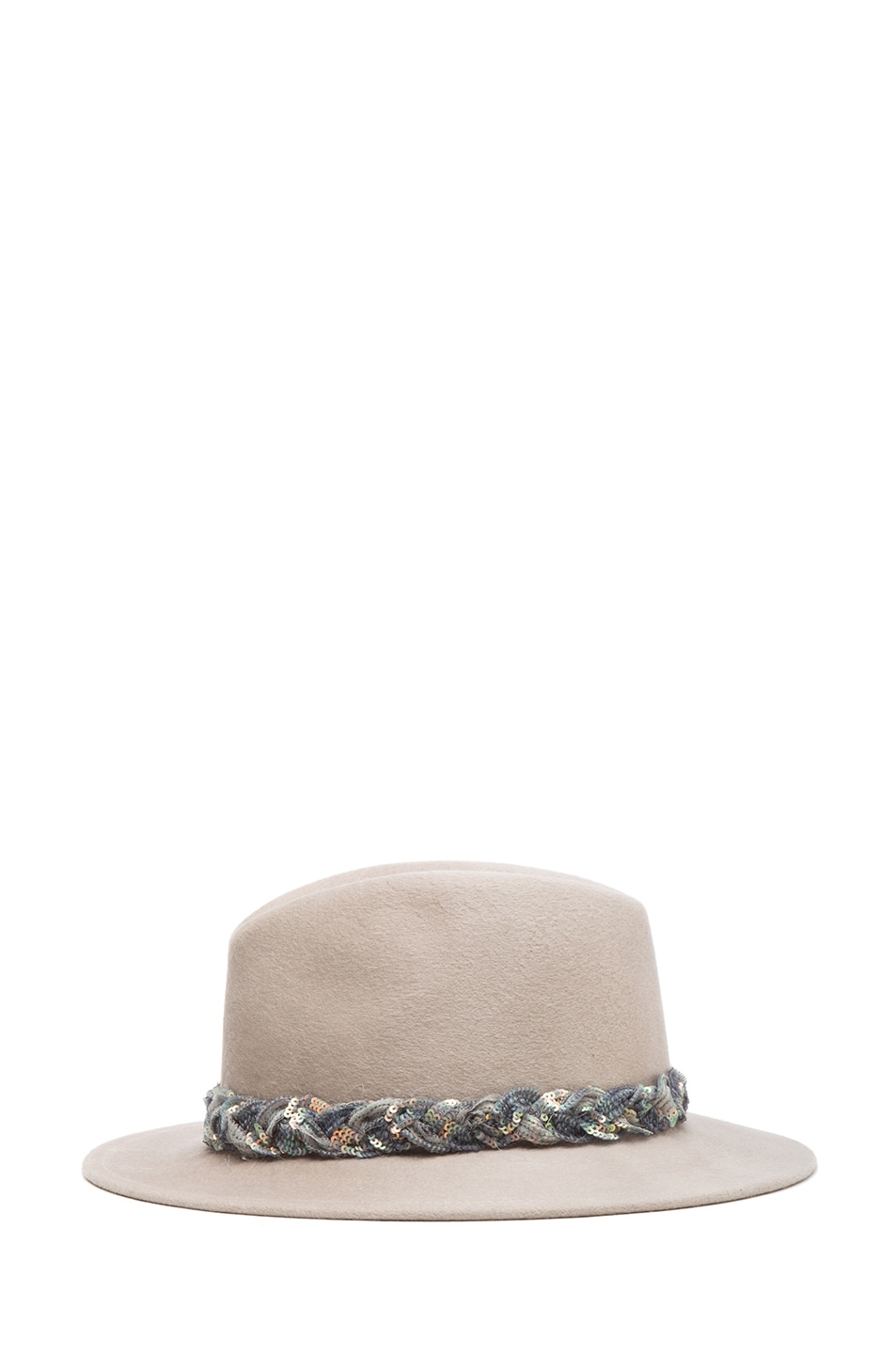 Image 3 of Eugenia Kim Harper Brushed Wool Felt Fedora in Oyster