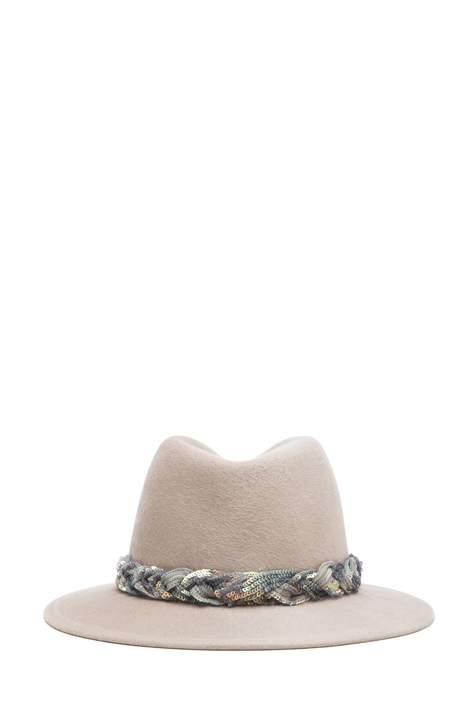 Image 4 of Eugenia Kim Harper Brushed Wool Felt Fedora in Oyster