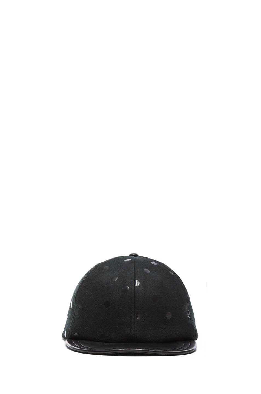 Image 1 of Eugenia Kim Darien Mixed Leather Cap in Black