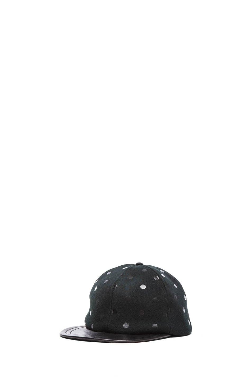 Image 2 of Eugenia Kim Darien Mixed Leather Cap in Black