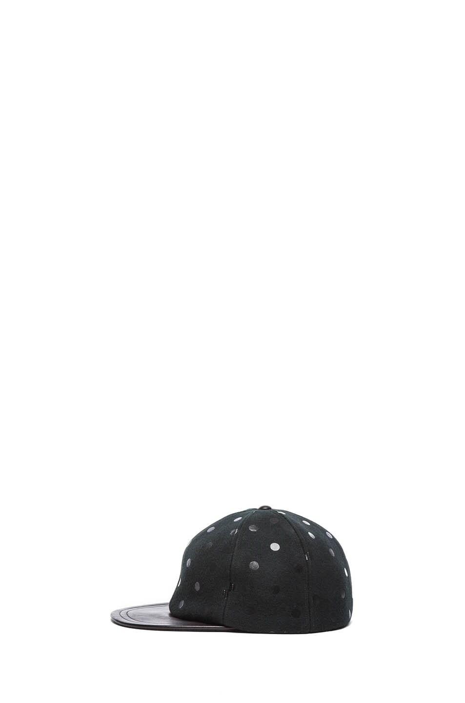 Image 3 of Eugenia Kim Darien Mixed Leather Cap in Black