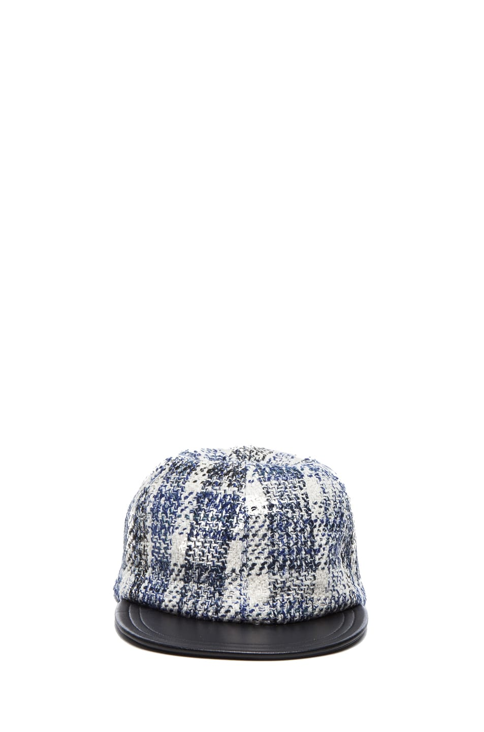 Image 1 of Eugenia Kim Darien Cap in Ivory, Cobalt & Black