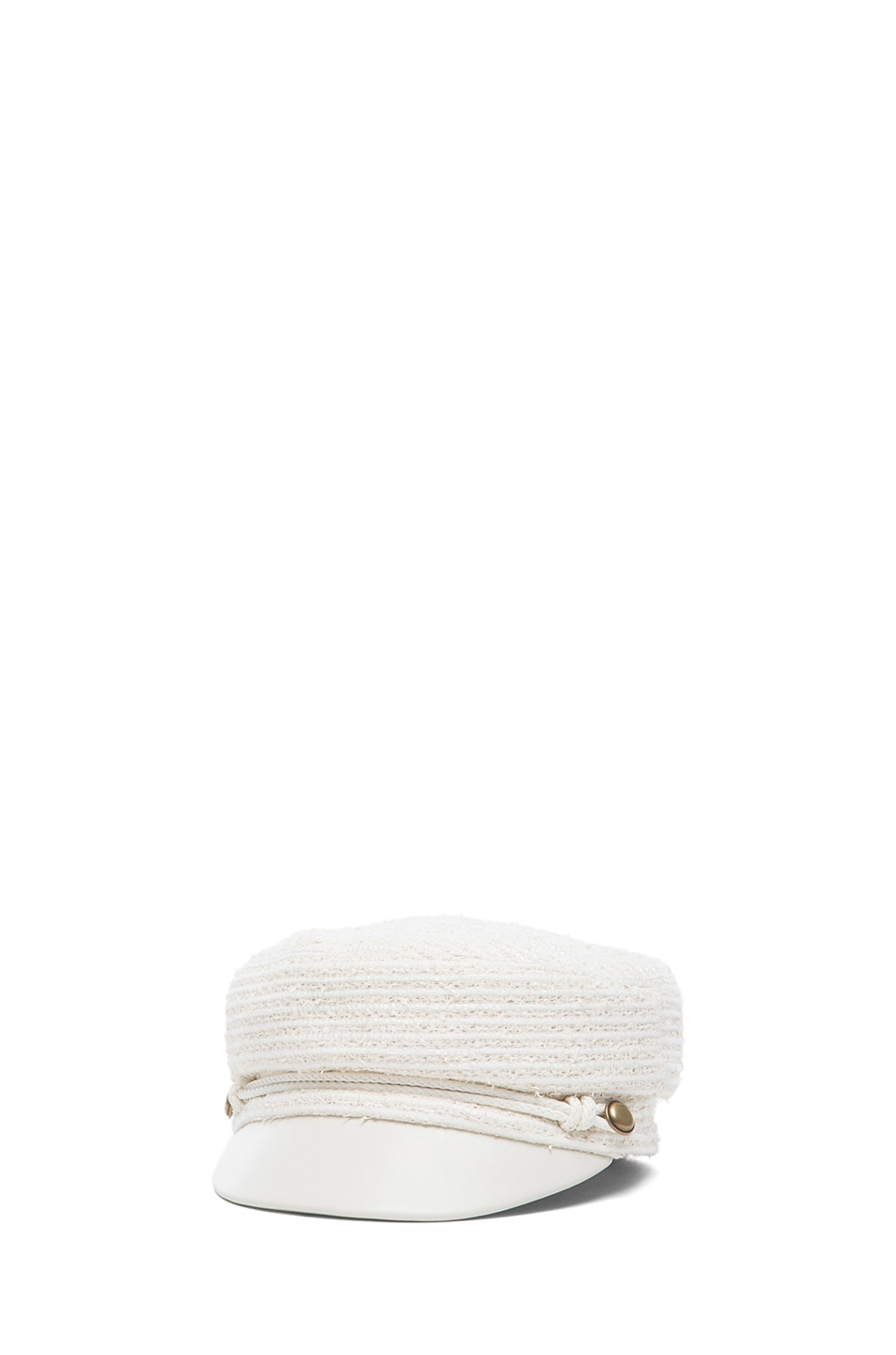 Image 2 of Eugenia Kim Elyse Mod Cap in Ivory & White