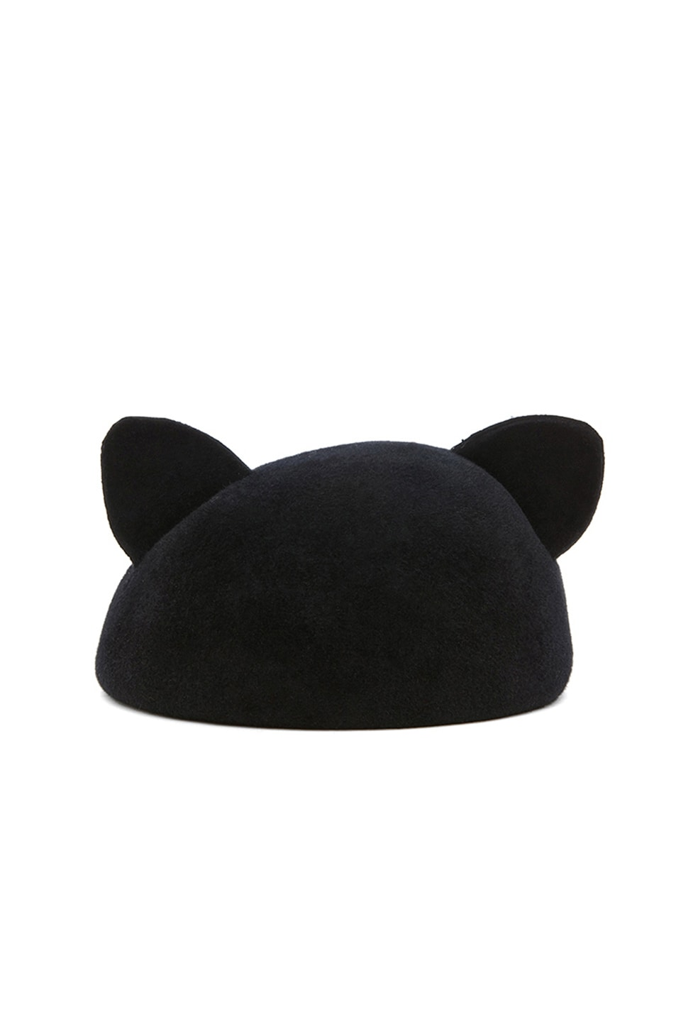 Image 1 of Eugenia Kim Caterina Velour Felt Cat Ears Beret in Black