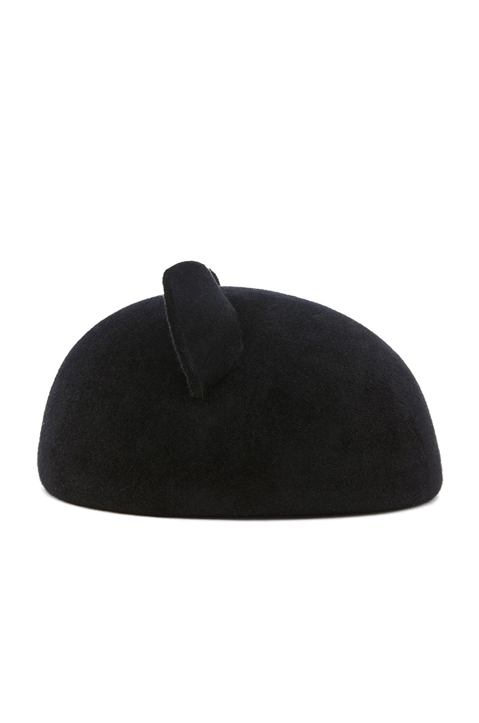 Image 3 of Eugenia Kim Caterina Velour Felt Cat Ears Beret in Black