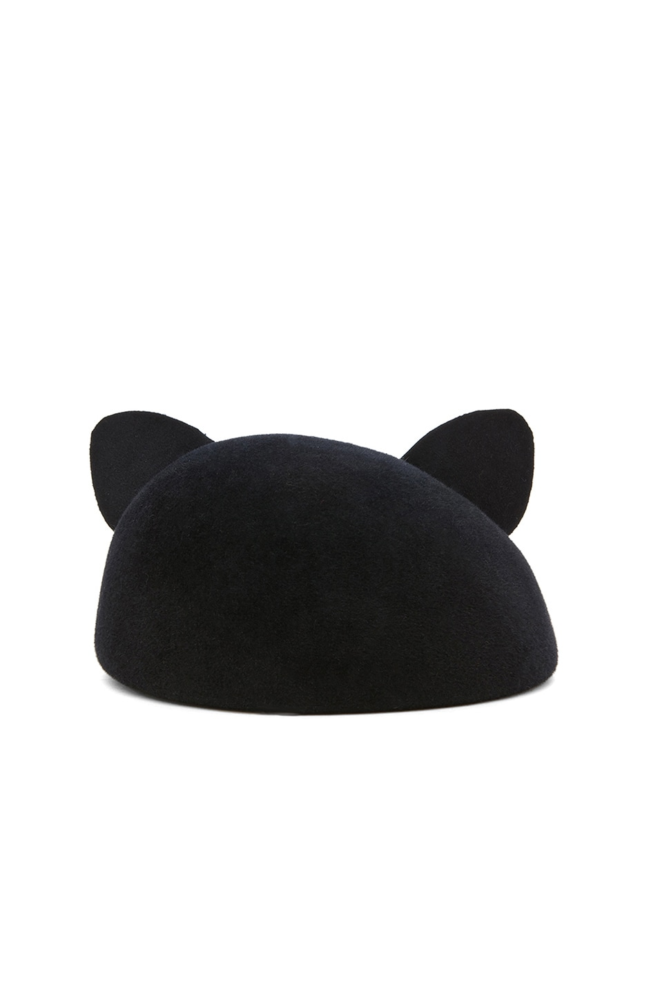 Image 4 of Eugenia Kim Caterina Velour Felt Cat Ears Beret in Black