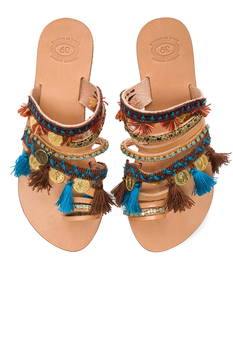 Image 1 of Elina Linardaki Leather Marrakech Sandals in Multi