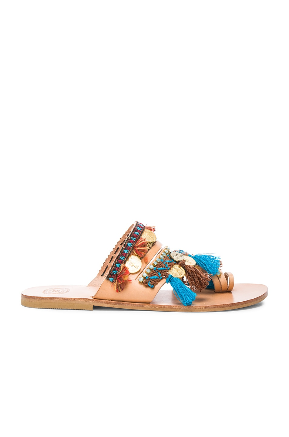 Image 2 of Elina Linardaki Leather Marrakech Sandals in Multi