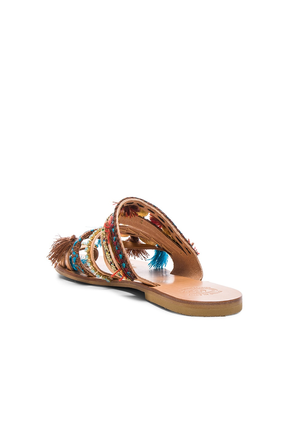 Image 4 of Elina Linardaki Leather Marrakech Sandals in Multi