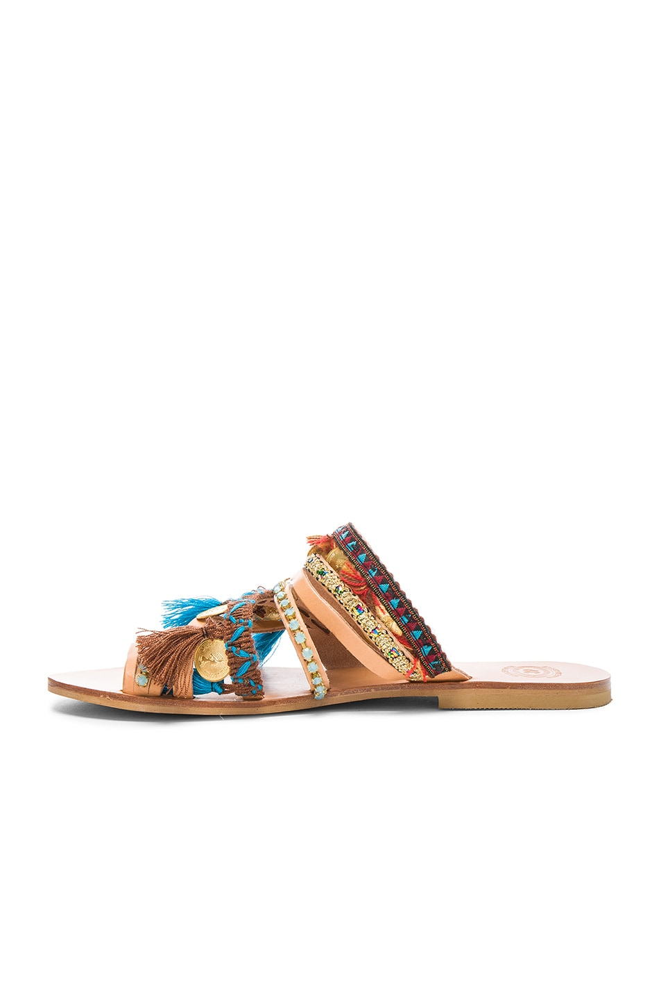 Image 5 of Elina Linardaki Leather Marrakech Sandals in Multi