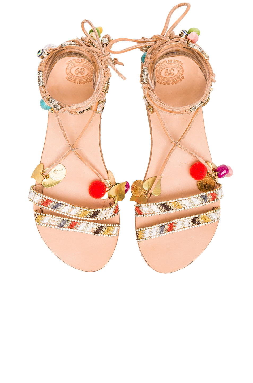Image 1 of Elina Linardaki Leather Stardust Sandals in Multi