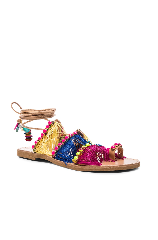 Image 3 of Elina Linardaki Leather Tahiti Sandals in Multi