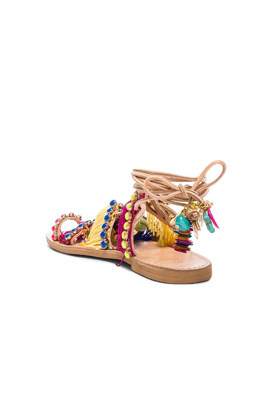Image 4 of Elina Linardaki Leather Tahiti Sandals in Multi