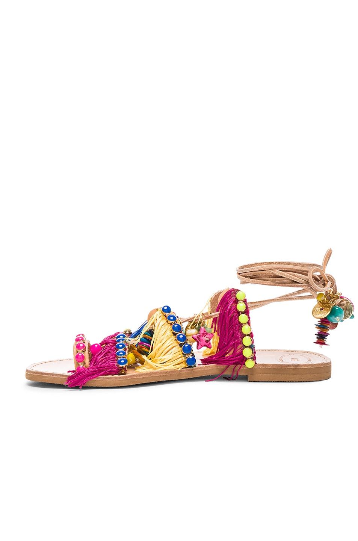Image 5 of Elina Linardaki Leather Tahiti Sandals in Multi