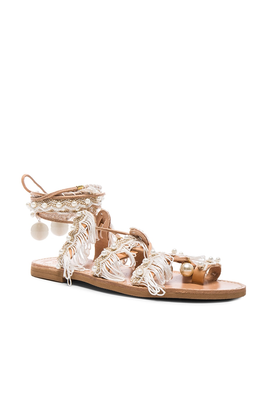 Image 3 of Elina Linardaki Leather Ever After Sandals in White