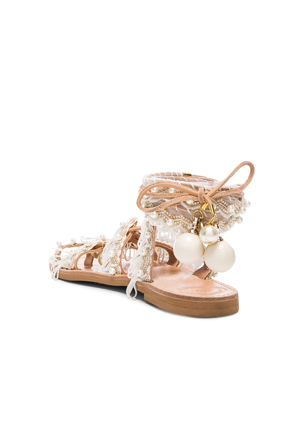 Image 4 of Elina Linardaki Leather Ever After Sandals in White