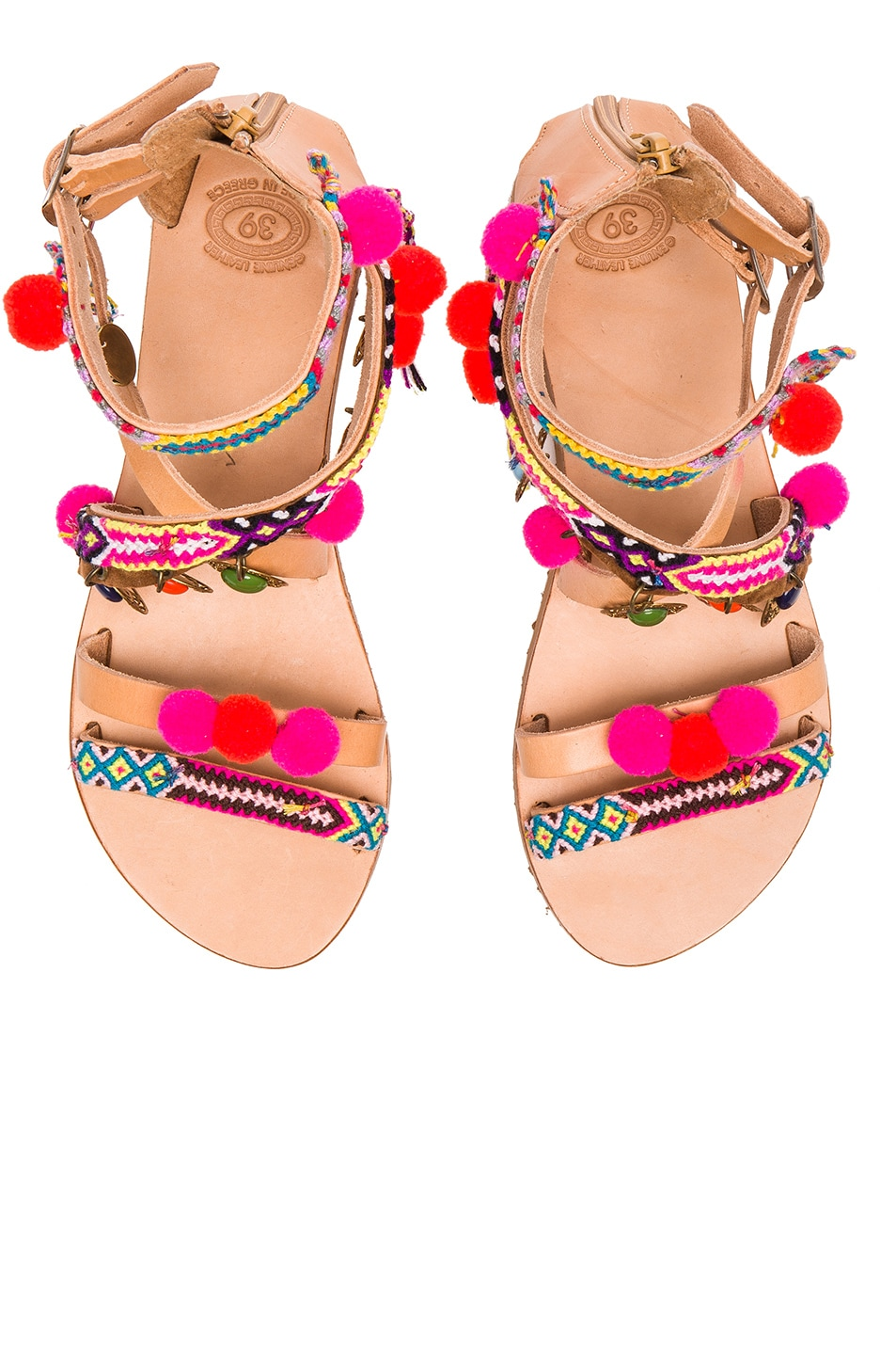 Image 1 of Elina Linardaki Leather Gipsy Spell Sandals in Multi