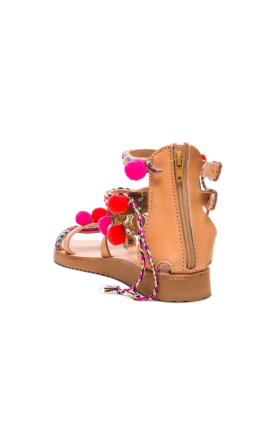 Image 4 of Elina Linardaki Leather Gipsy Spell Sandals in Multi