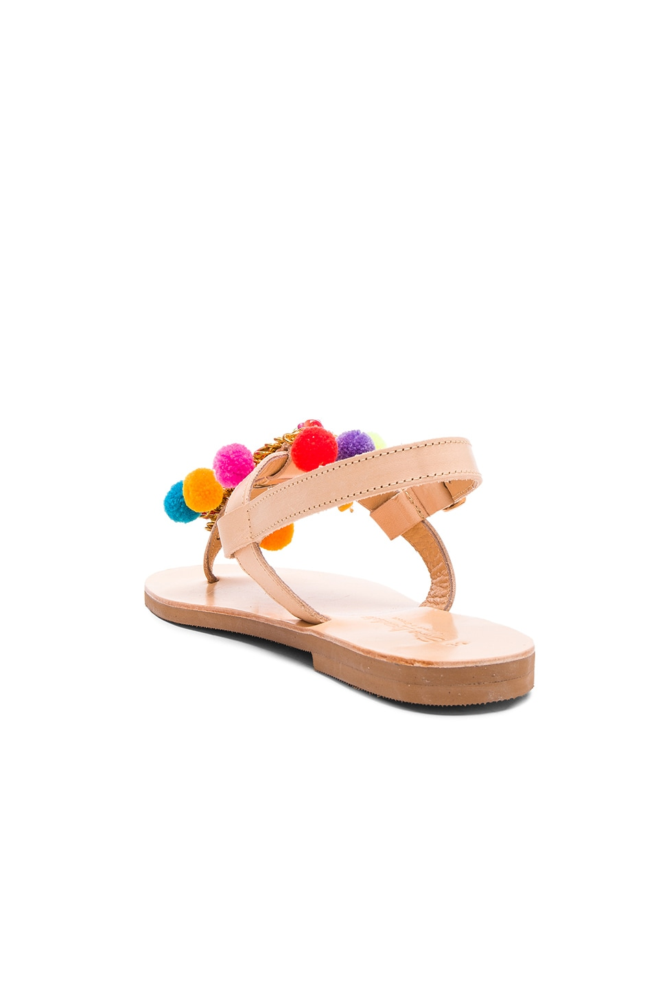 Image 4 of Elina Linardaki Leather Jelly Tots Sandals in Multi