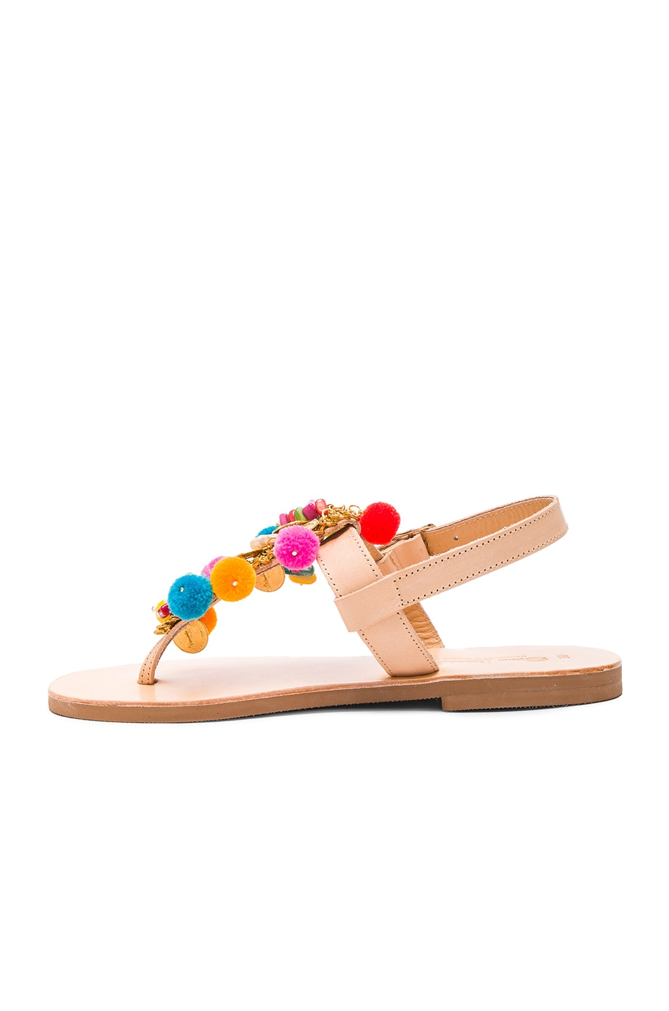 Image 5 of Elina Linardaki Leather Jelly Tots Sandals in Multi