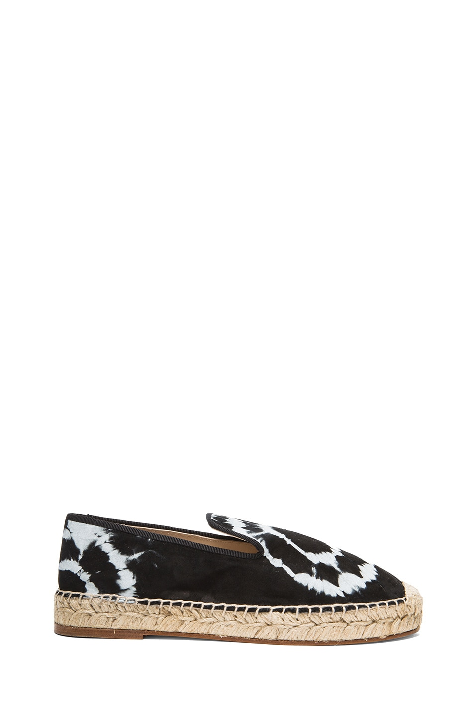 Image 1 of elysewalker los angeles Tie Dye Satik Suede Espadrilles in Black & White