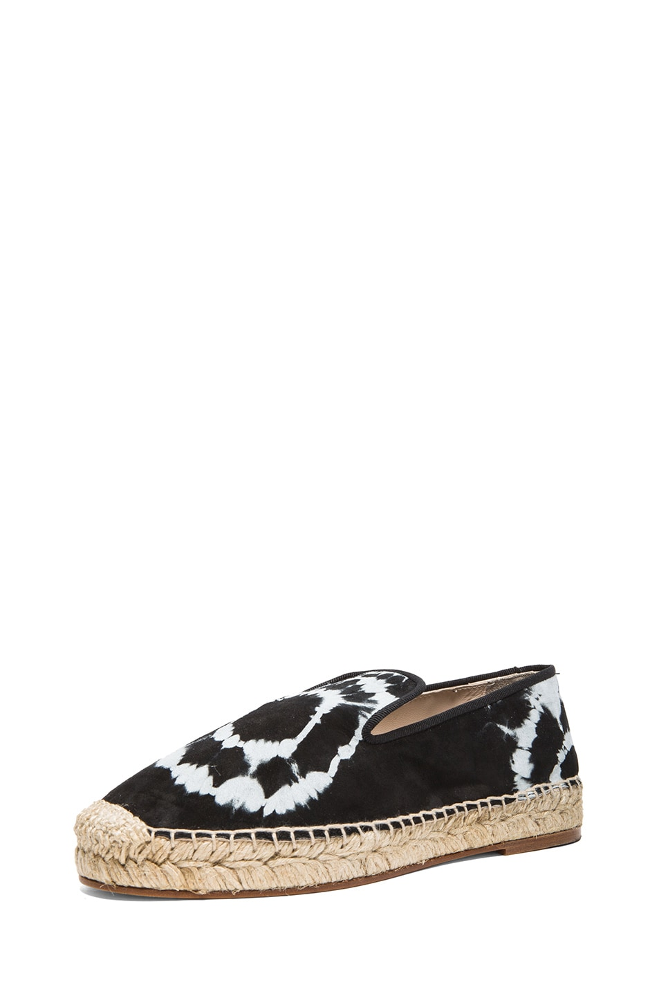 Image 2 of elysewalker los angeles Tie Dye Satik Suede Espadrilles in Black & White