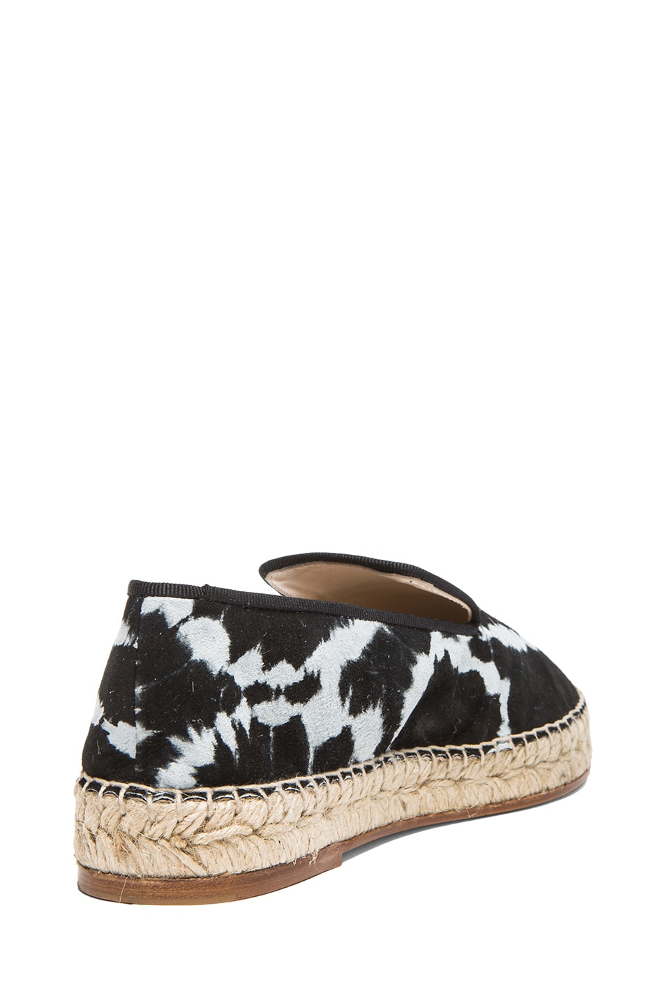 Image 3 of elysewalker los angeles Tie Dye Satik Suede Espadrilles in Black & White