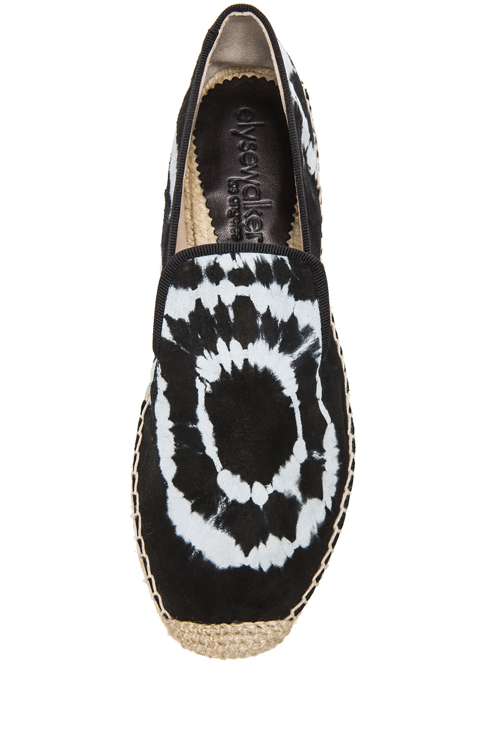 Image 4 of elysewalker los angeles Tie Dye Satik Suede Espadrilles in Black & White