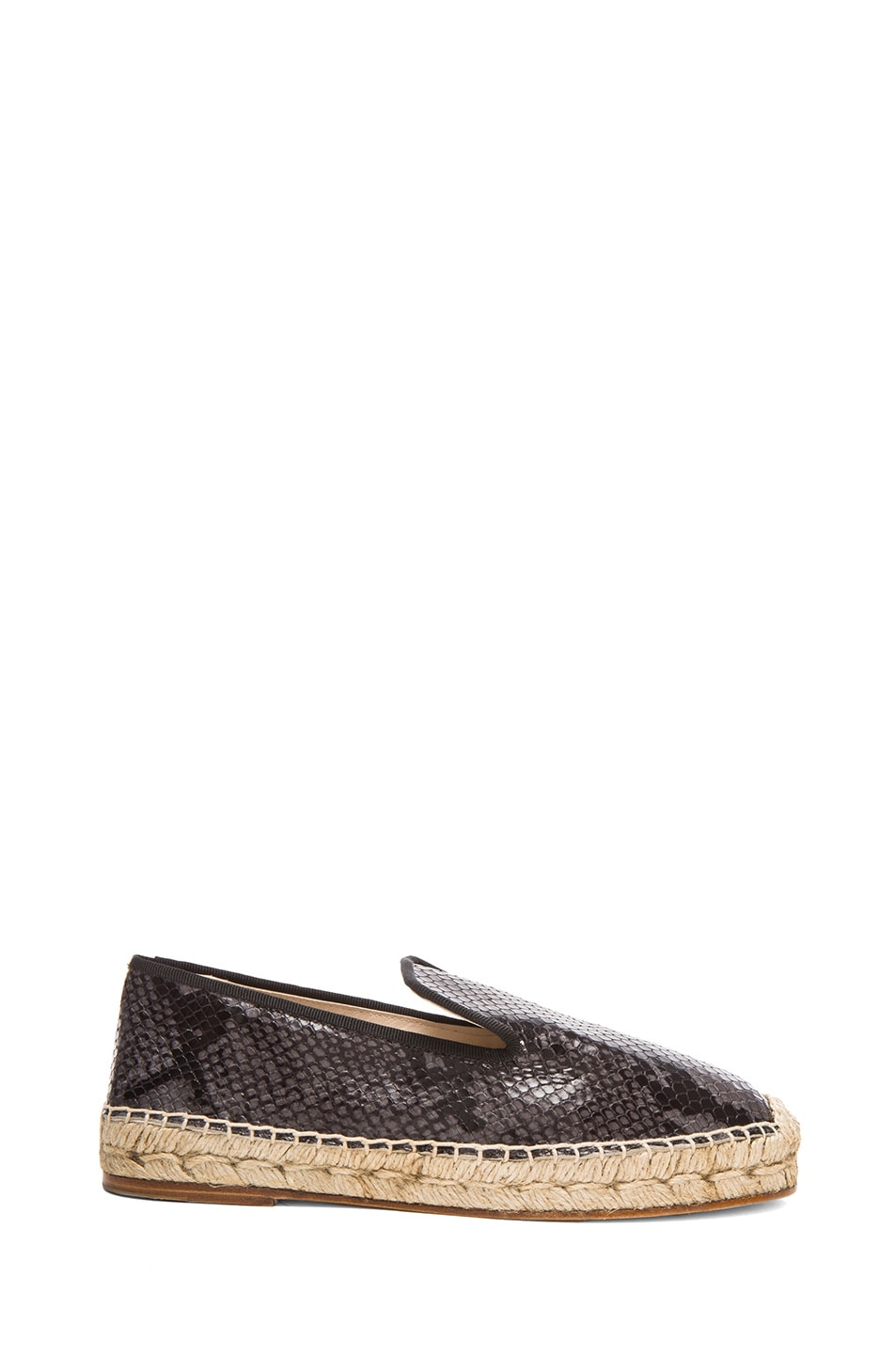 Image 1 of elysewalker los angeles Python Printed Leather Espadrilles in Grey