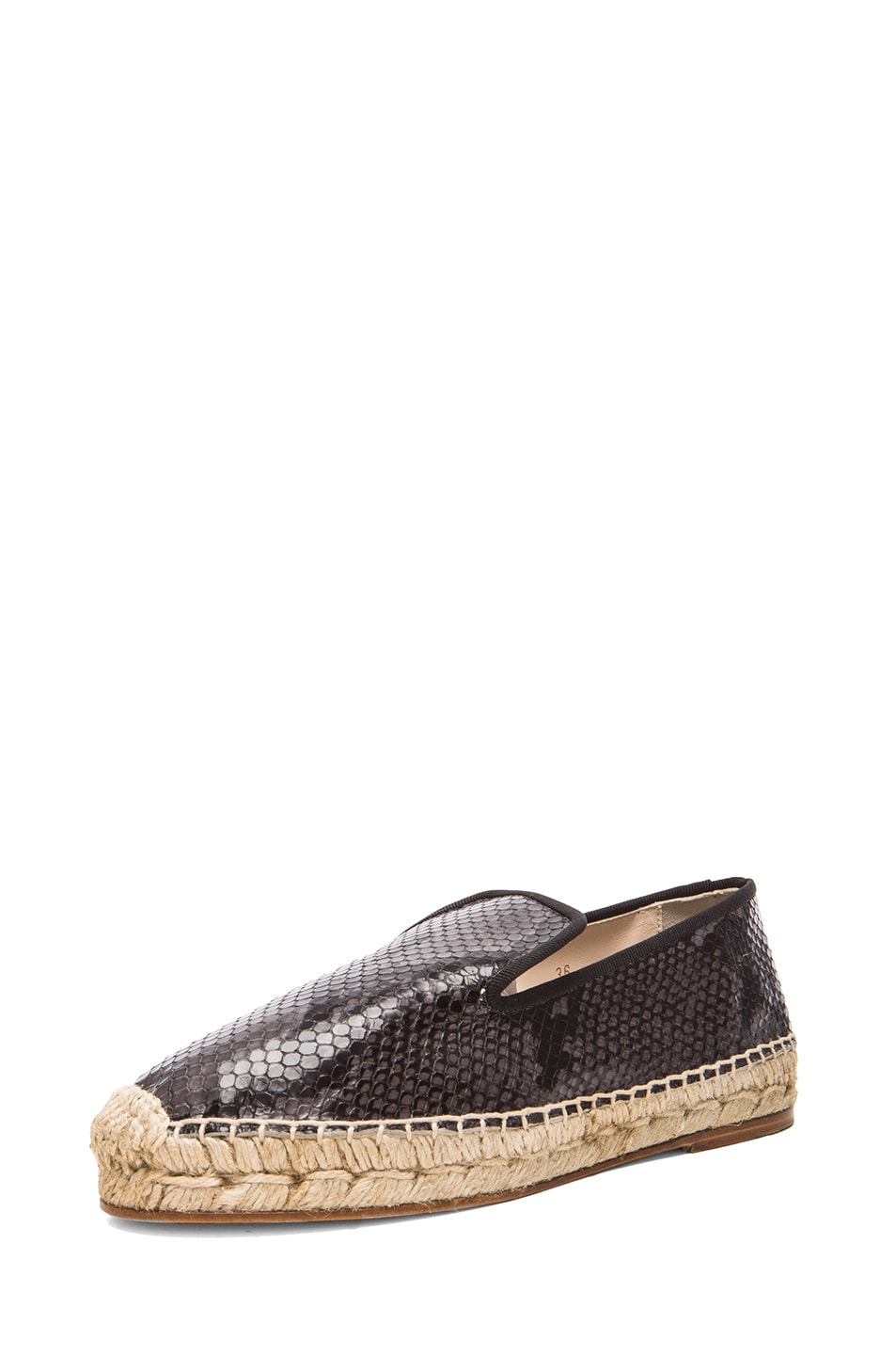 Image 2 of elysewalker los angeles Python Printed Leather Espadrilles in Grey