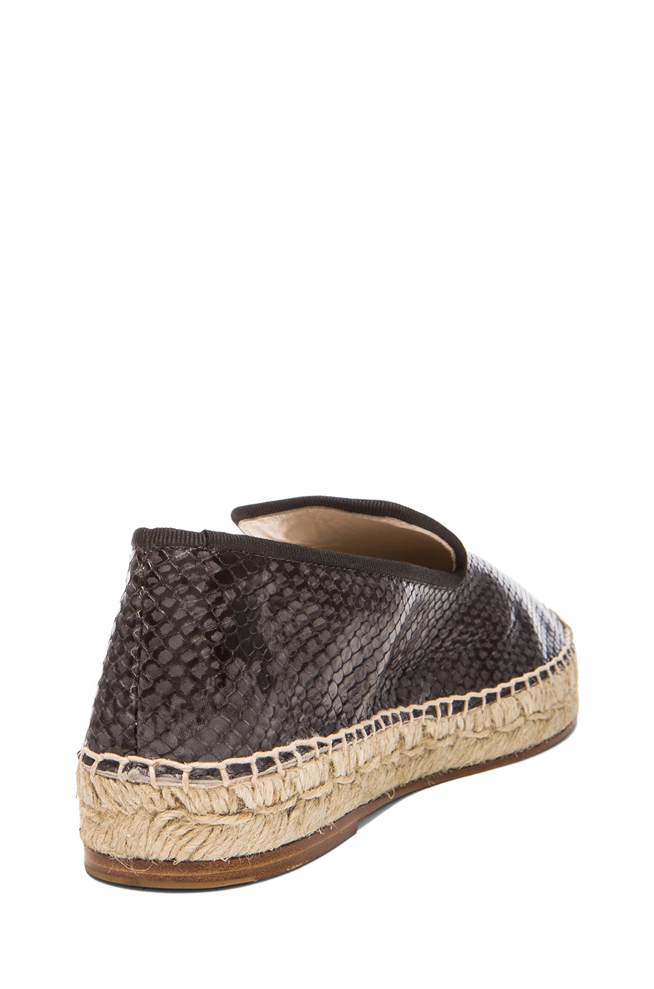 Image 3 of elysewalker los angeles Python Printed Leather Espadrilles in Grey