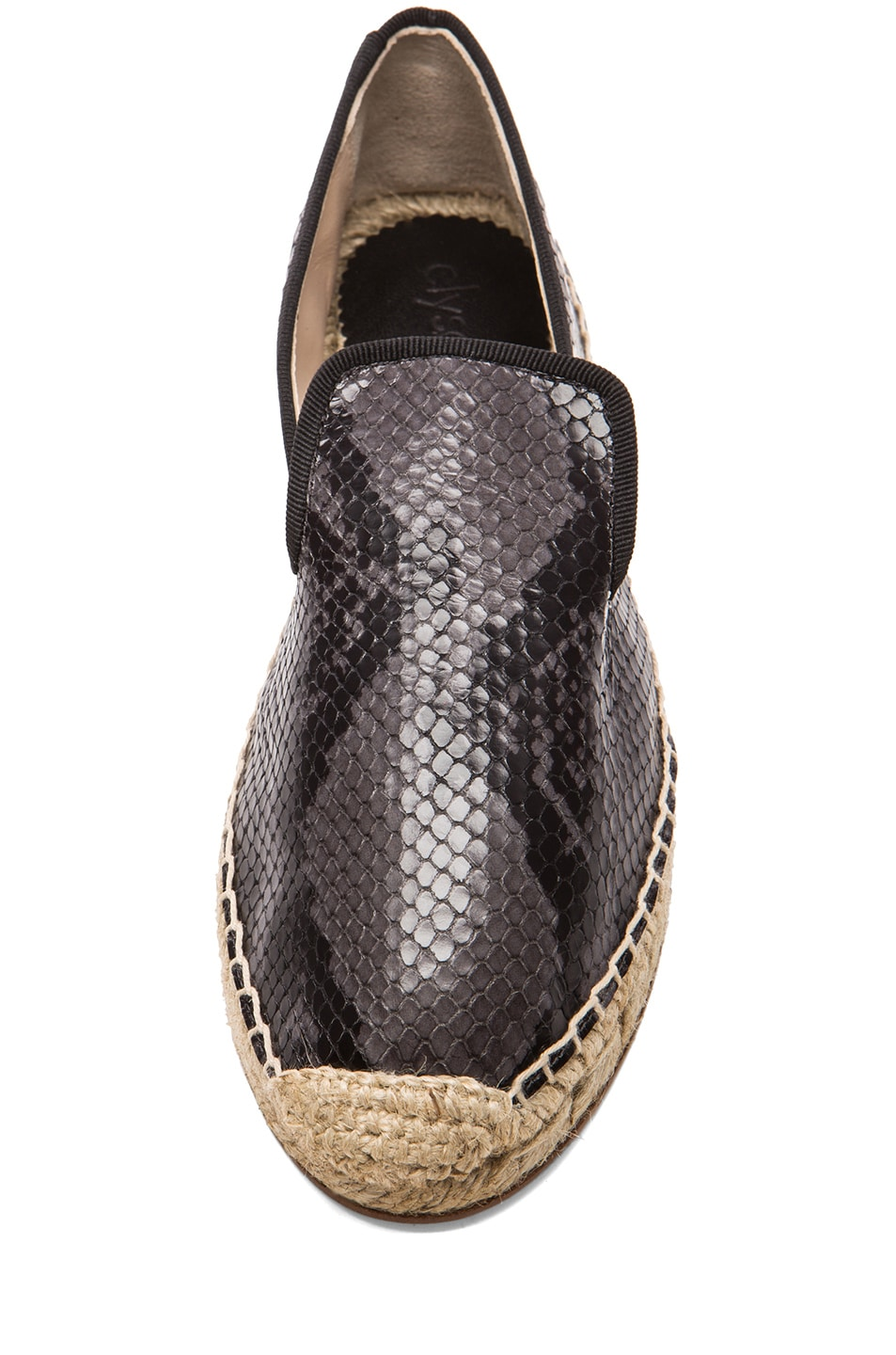 Image 4 of elysewalker los angeles Python Printed Leather Espadrilles in Grey
